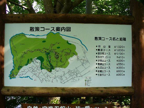 函館山登山口の看板