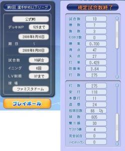 2009年9月後期WP45以下リーグ結果