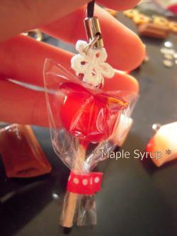 りんご飴ストラップ
