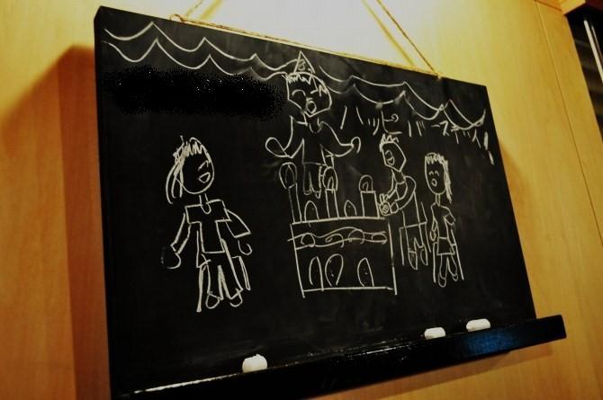 黒板のメッセージ
