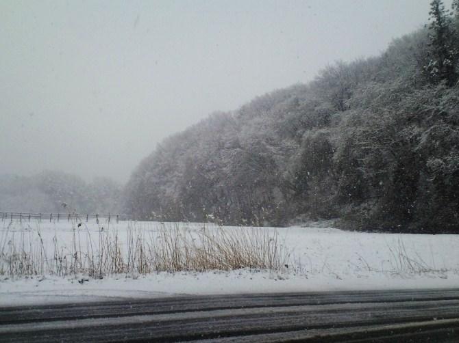 4月22日の雪