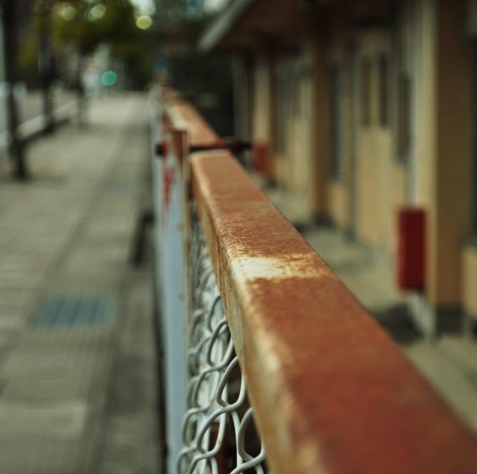フェンスの錆