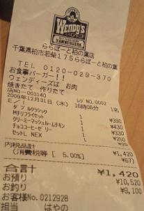 20091231ウェンディーズ最終日?