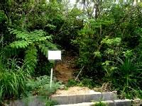 「ユツン三段の滝」へのスタート地点
