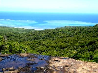 二段目の崖縁