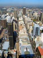 ヨハネスブルグの市街地=南アフリカ