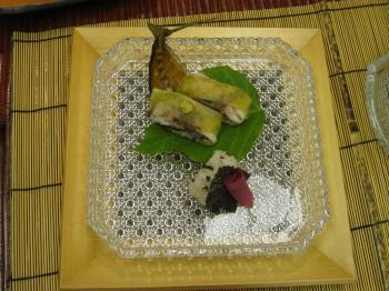 焼アジ寿司