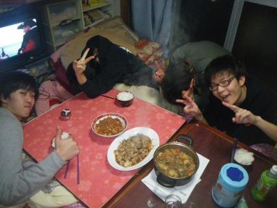 小川の夕飯
