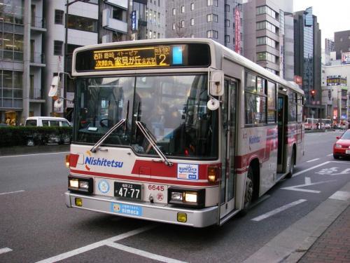 天神3丁目にて金武6645.なんと2特快運用!!!