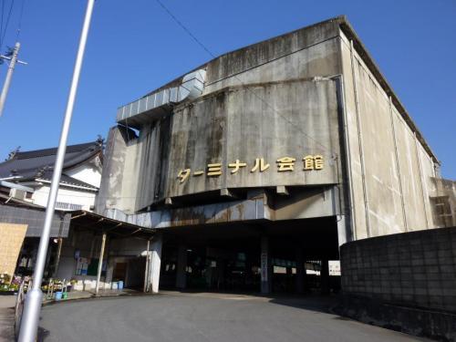 後藤寺バスセンター。西鉄の持つバスセンターで最古参らしい