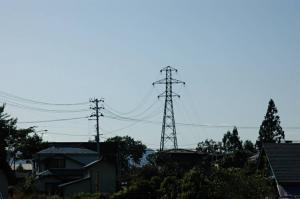 鉄塔から電柱2