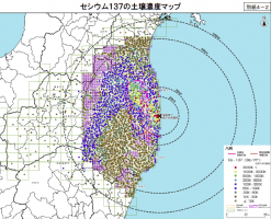 Cs137土壌濃度マップ