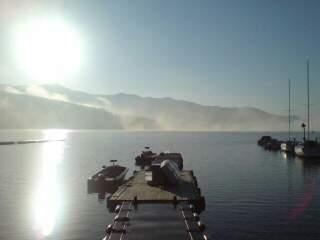 20110424 霧のはれた桟橋