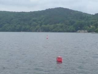 20110613 禁漁ブイ 大崎から国際村を見た