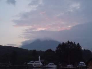 20110803 桟橋沖から見た夕焼け2