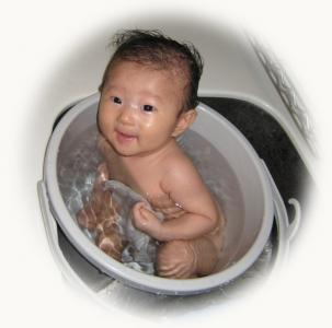 バケツ風呂-2