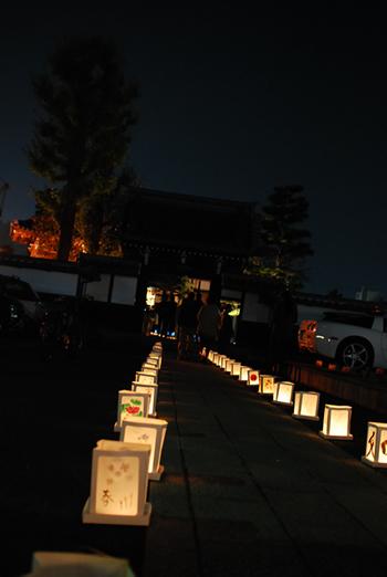 寺もライトアップ
