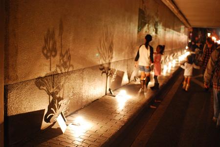 トンネル内ライトアップ
