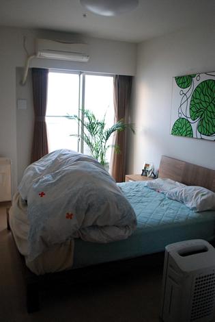 タワーマンションの寝室