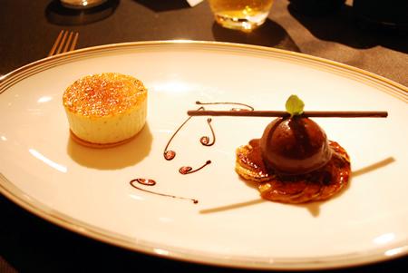 ヴァニラのクリームブリュレ チョコレートとバナナのキャラメリゼ