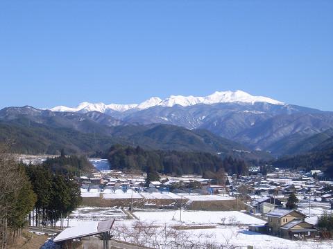 0056朝日村から見た乗鞍岳