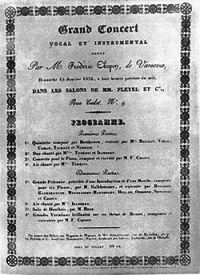 Salle Pleyel Concert Feb. 25, 1832