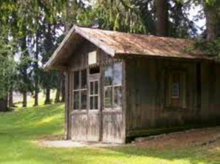 Composing Hut in Toblach
