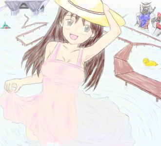 拍手絵_夏の海03