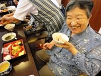 熊野さんとこの赤飯!おいしーの