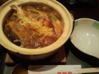 味噌煮込みうどん+エビ天トッピング@若鯱家 (横浜市)