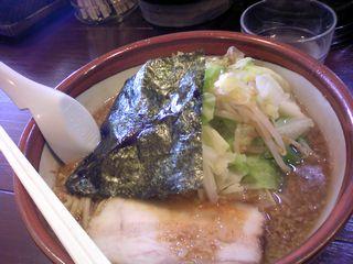 醤油ラーメン+野菜@天空 (横浜市)