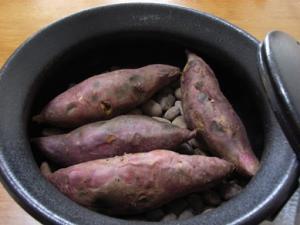 焼きイモ鍋