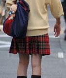 超可愛い赤チェックスカート制服