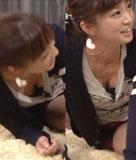 安田美沙子 股間どアップを撮られレースの生パンツが丸見え!