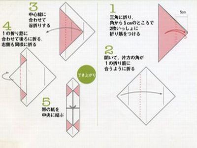 ハート 折り紙 折り紙箸袋折り方 : origami140.blog91.fc2.com