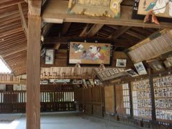 白鳥神社 歴史の物語をつづった絵がたくさん