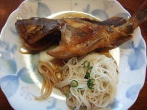 煮魚とそうめん