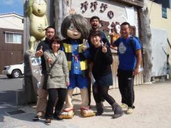鬼太郎と記念写真