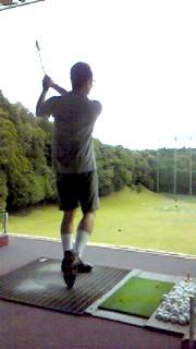 8月9日 ゴルフ練習ヒデキ
