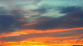 8月10日 夕焼け西の空