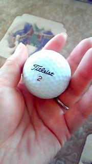 9月11日 ゴルフボール