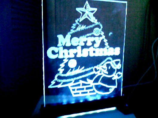 光るアクリル板(Merry christmas!)