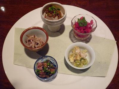 蓮華前菜5種盛り
