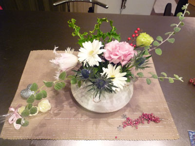 おせち 今年のお花、食卓