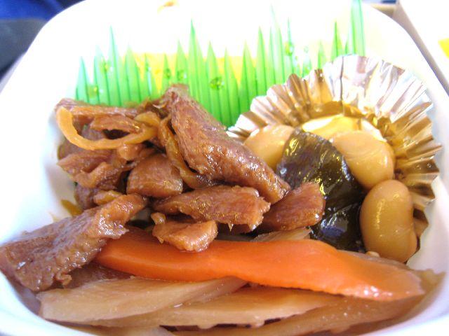 北京行き機内食