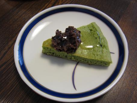 青汁ホットケーキ