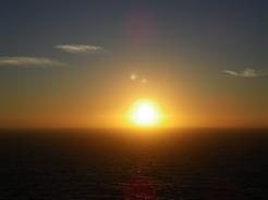 20jul2010 大西洋に沈む太陽
