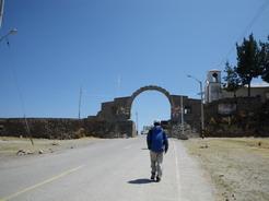 30sep2010 ボリビア国境まで歩く