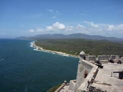 4apr2011 カリブ海とシエラ・マエストラの峰々