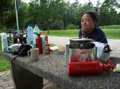 16jul2011 この日はトイレ付きのパーキングで野営